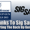 Sig Sauer Sponsors Smith & Wesson IDPA Back Up Gun Nationals