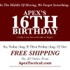 Apex Marks 16th Anniversary With Free Shipping At ApexTactical.com