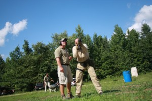 Lead Instructor, Jay Gibson, helping me refine my AK Technique (camera on timer).