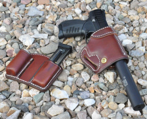 The holster rig is by Dave Cox at Davis Leather Company.