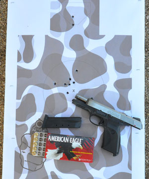 Gunsite School Drill fired with the SR45