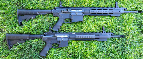 The Ruger SR762 (top) and the Ruger SR556.