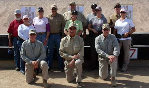 The five couples took shooting, moving and COMMUNICATING to a new level with the help of the skilled instructions at the Gunsite Academy.