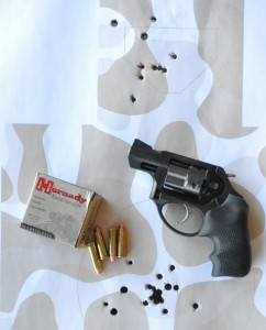 Body shots double action and head shots fired single action with the Ruger LCRX