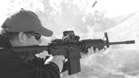 High marks came from the more than a dozen shooters who got behind the new GII AP4 .308 carbine and all agreed that it had surprisingly low recoil.