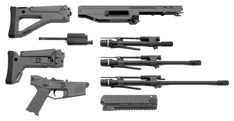 Like all ACR's, the PDW can use a number of components to suit the user including buttstocks and three (quick-change) barrel lengths as seen here.