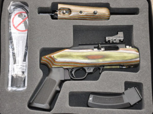 The Charger Takedown model comes with a hard case with a fitted foam insert for the magazine, barrel and receiver when the pistol is taken apart.