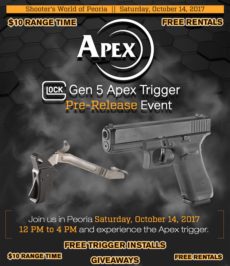 Apex Previewing New Gen 5 Glock Trigger at Shooter's World